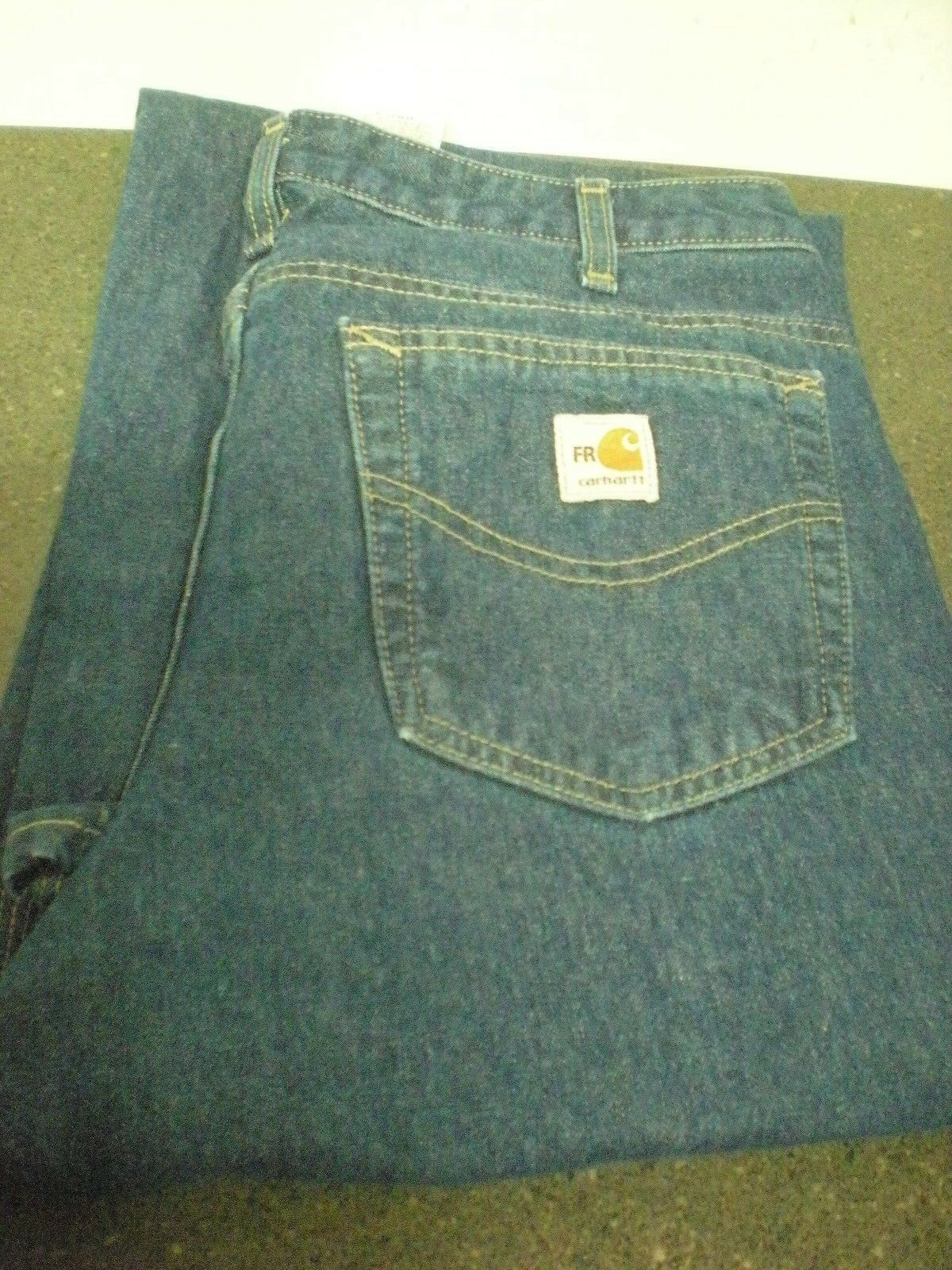 Carhartt FR Jeans Relaxed Fit Size 10x32 Womens 14806 VG Condition - A.90