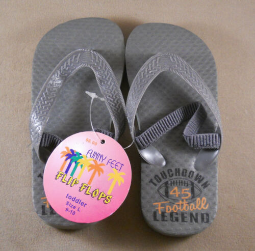 XL L Toddlers Funny Feet Flip Flops Slippers Sandals Shoes New With Tags Size