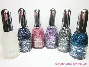 6-x-La-Femme-GLITTER-Nail-Varnish-Polish-Art-Carnival-Multi-Colour-Pink-Gift-Set