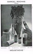 PUBLICITE ADVERTISING   1952   MOUSTACHE   parfum   MARCEL ROCHAS