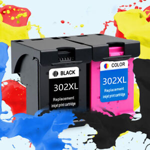 Tinte-Patrone-Passends-Fuer-Hp-302-XL-Officejet-3830-3831-3832-3833-3834-3835