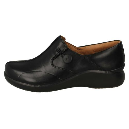 UN LOOP 2 WALK LADIES CLARKS SLIP ON FLAT CASUAL WORK LEATHER UNSTRUCTURED SHOES