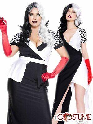 101 Dalmatians Cruella De Vil Costume Accessory Kit Adult Size Long Gloves