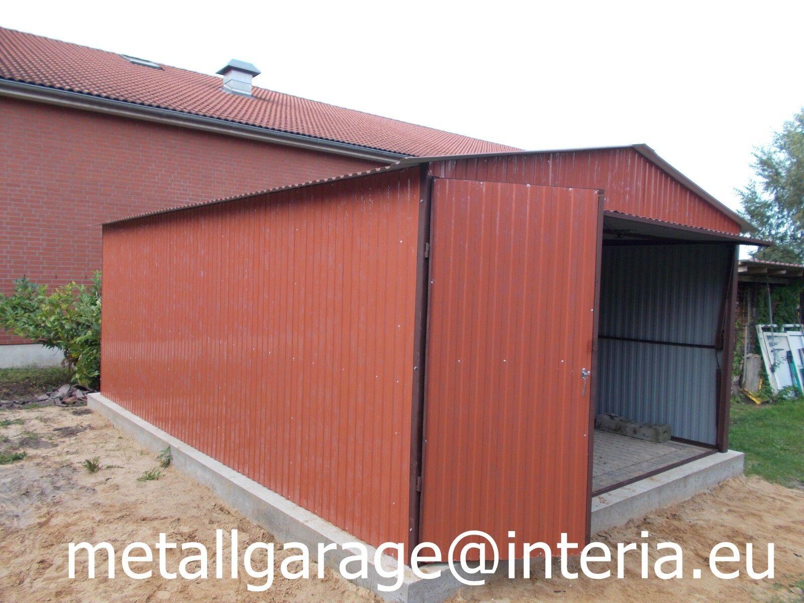 3,5x5,5 Schuppen Blechgarage Garage Fertiggarage Metallgarage Gartenhäuser KFZ