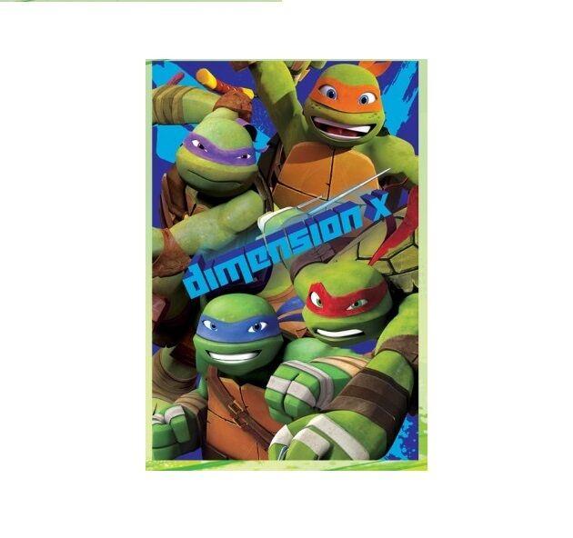 plaid polaire 100 x 150 Tortue Ninja, couverture enfant Tortue Ninja