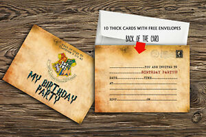 Image Is Loading Birthday Party Invitations Harry Potter X 10 THICK