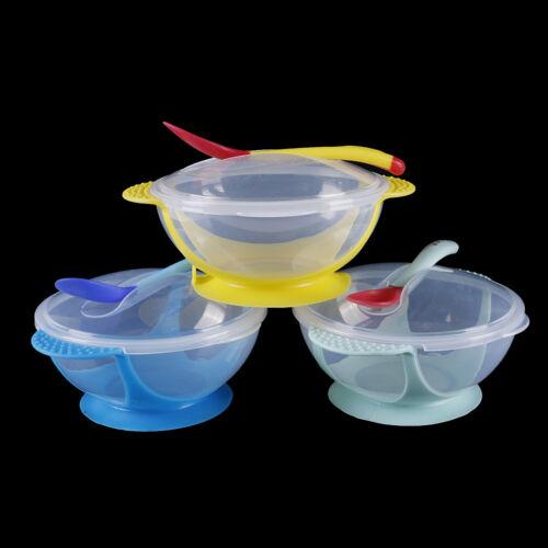 Baby feeding suction bowl set slip-resistant tableware temperature sensingsRDFU