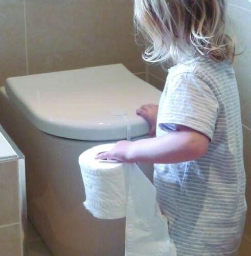 A estrenar en paquete Clippasafe de bloqueo de inodoro en blanco