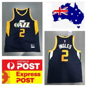 differently d0688 4a98b Details about Utah Jazz Aussie Player Joe Ingles Jersey Blue Color
