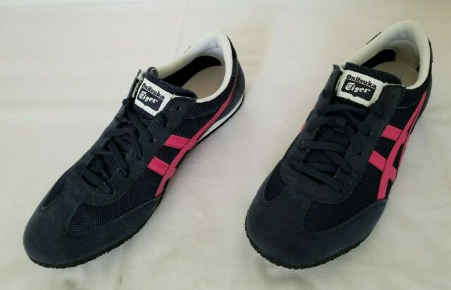 outlet store f69a9 f915c Womens Size 10 Navy Blue Pink Asics Onitsuka Tiger Machu Racer Shoes DN353  used