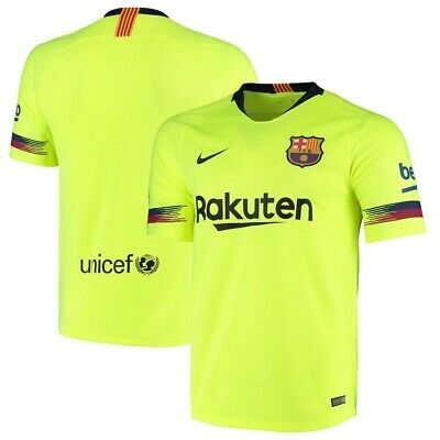 FC Barcelona Jersey Adidas Yellow Authentic Stadium Kit 18-19 Away ...
