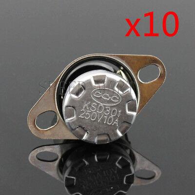 KSD301 10 pcs Temperature Switch Control Sensor Thermal Thermostat 100°C N.C