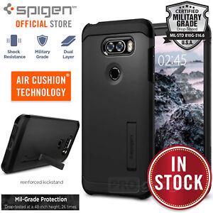 promo code 7a901 e742c Details about LG V30 / V30 Plus Case, Genuine Spigen Heavy Duty Tough Armor  Hard Cover for LG