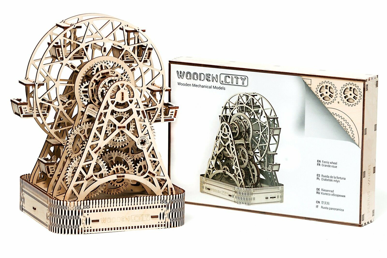 FERRIS WHEEL - WOODEN CITY 3D Mechanical Wooden Model