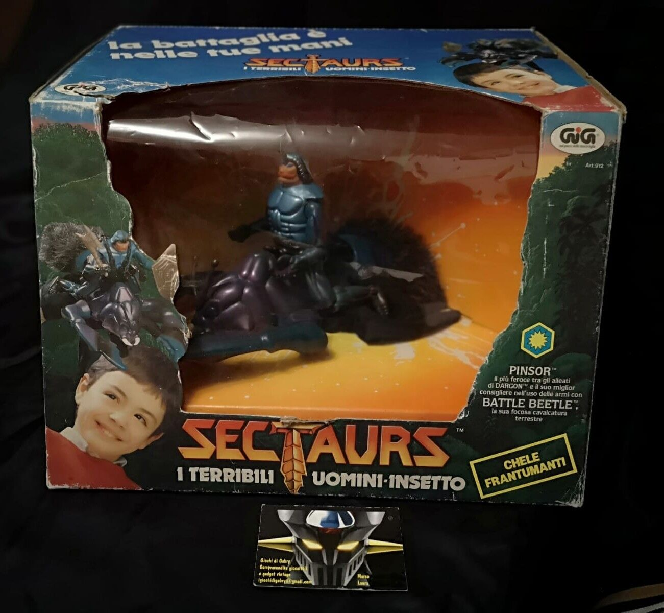 SECTAURS PINSOR e BATTLE BEETLE 1984 by COLECO box Ita by GIG NEW MISB sigillato