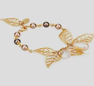 """Brosway """" Leaves """", Armband Golden mit Perlen Und Herg (BLS13), Neu"""