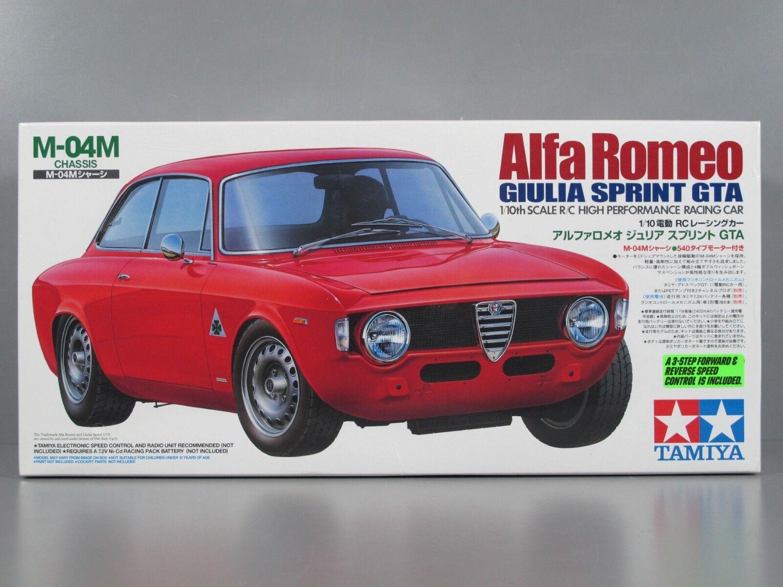 Rare Nuovo Seal Box Tamiya 1/10 R/C Alfa Romeo Gilia Sprint GTA M-04M Chasis 58307