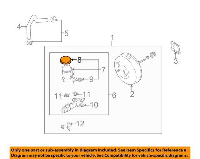 s l640 oem brake master cylinder reservoir cap for 01 02 kia rio 0k30a43590