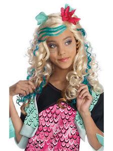 ... Con-licenza-BAMBINO-Lagoona-Blue-Parrucca-Costume-Monster-  sc 1 st  eBay & Licensed Child Lagoona Blue Wig Fancy Dress Monster High Halloween ...