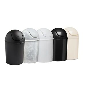 Umbra Mini Trash Can With Swing Lid Waste Basket Black