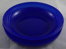 Tupperware Junge Welle 700 ml Schale mit Teller / Deckel Dunkelblau Blau Neu
