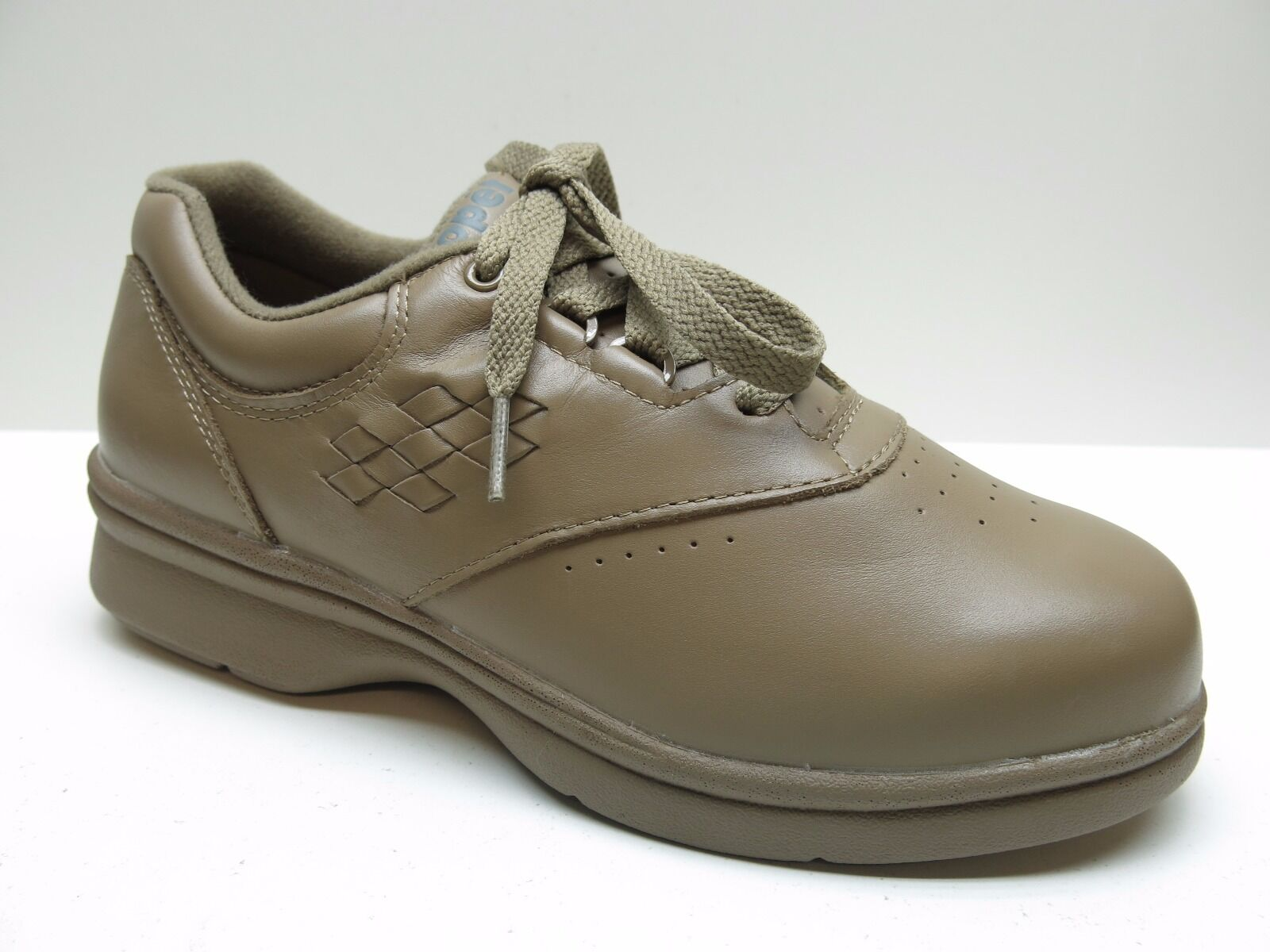 Women's Propet Taupe Vista Walker Leather Oxford Sneaker shoes NEW 7M 7  100.
