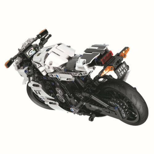 Set of 716 St WeIß Racing Motorrad Motorcycle Modell Baukasten Blocks Spielzeug