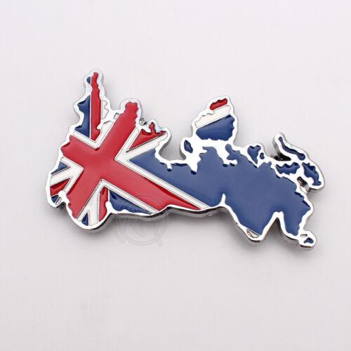 Metal Australia Map Front Hood Grille Emblems Badges Logo Universal for All Car