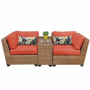 TKC-Laguna-3-Piece-Patio-Wicker-Loveseat-in-Orange