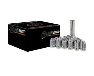 20-Chrome-West-Coast-Wheel-Accessories-Spline-Locking-Lug-Nuts-12x1-25-12-1-25