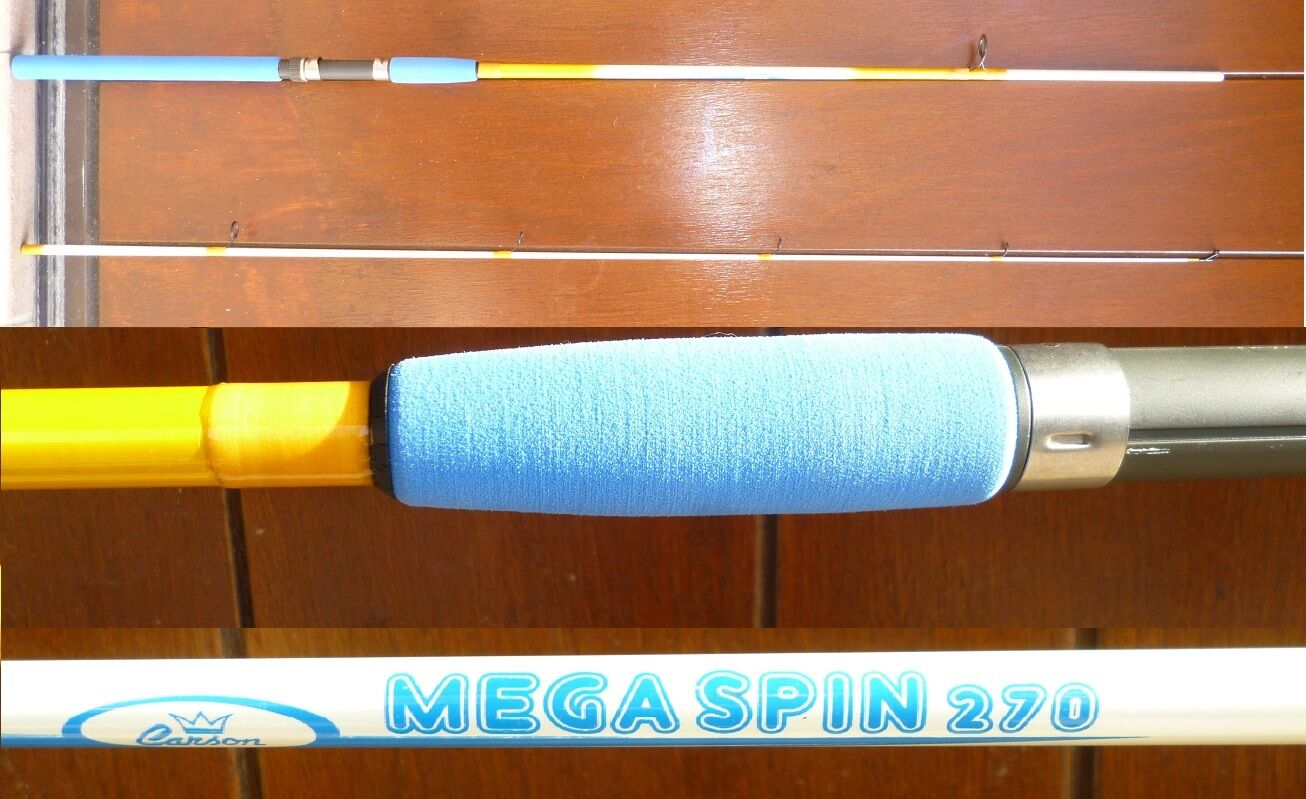 Canna da pesca spinning megaspin 2.70m 715g carbonio trossoa lago torrente bass