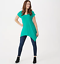 Attitudes-by-Renee-Como-Jersey-Handkerchief-Hem-Knit-Top-Aqua-XSmall thumbnail 1