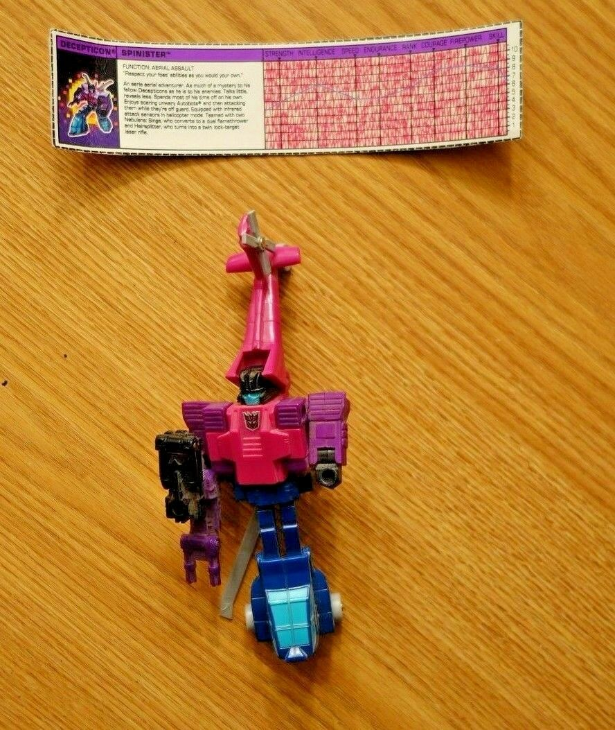 G1 vintage Transformers Targetmasters Decepticon-spinister complet