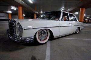 """14"""" Whitewall tire trim Set Of4 Mercedes W108 W110 W112 W113 Fits 165 70 R14"""