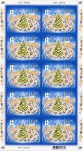 Estonie-2018-neuf-sans-charniere-arbres-de-Noel-10-V-S-A-M-S-Architecture-timbres