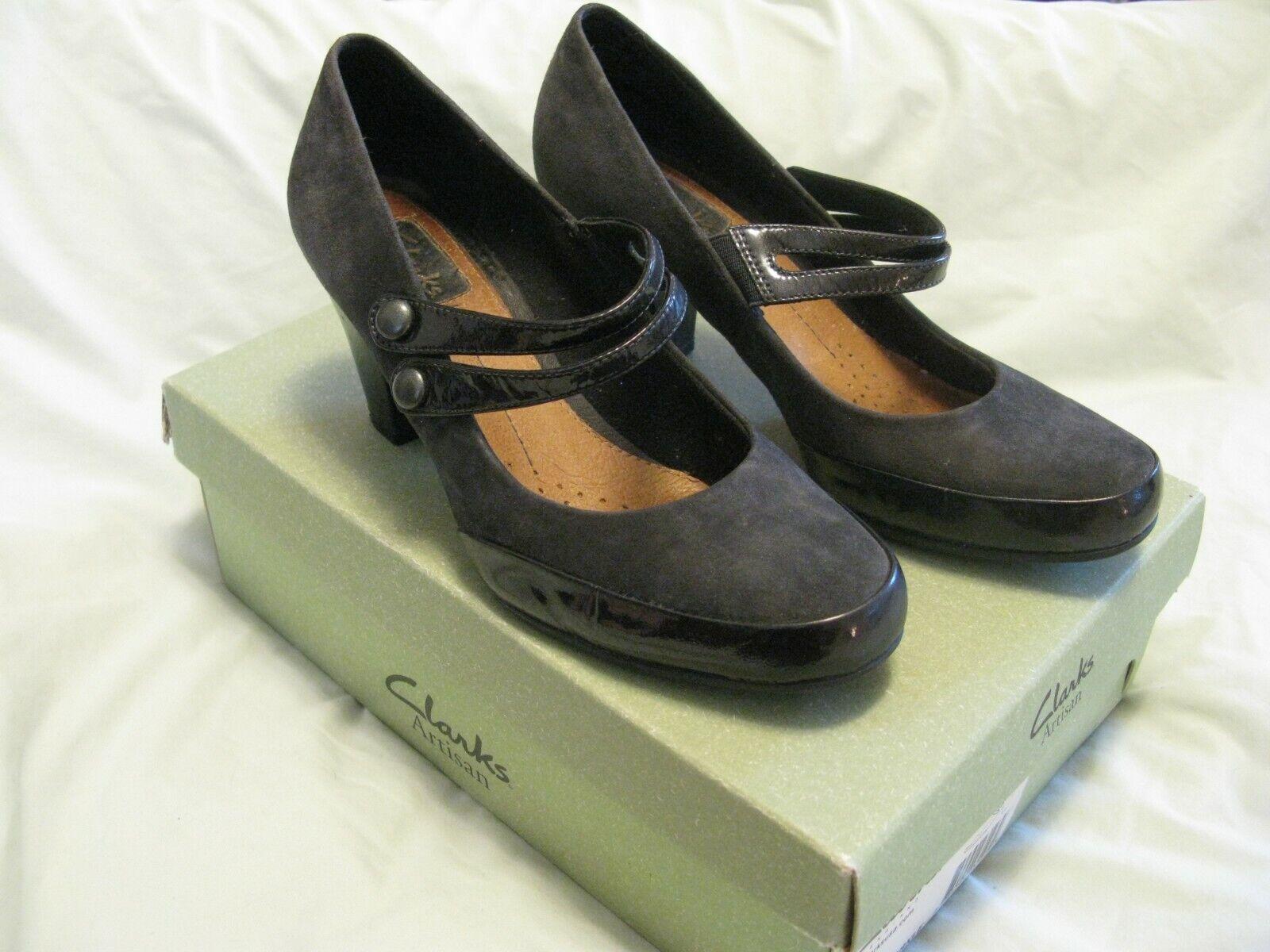 Clarks 'Diamond Sparkle' Heels Sz 7 Pewter Gorgeous Rare Style Pre-Owned