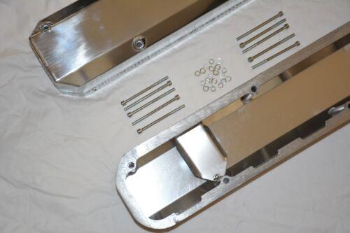 1967-91 Chrysler 318 Tall Fabricated Aluminum Valve Covers 340 360 mopar dodge