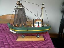 Ship Model  Boat Wooden Sailing Boat not sure what kind of boat it is (fishing)