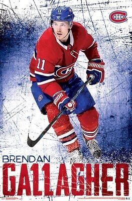 NHL HOCKEY 16520 22x34 BRENDAN GALLAGHER MONTREAL CANADIENS POSTER