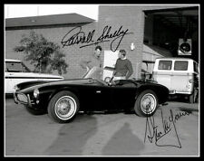1963 Steve McQueen Carroll Shelby Autographed Repro Photo 11X14 Great Escape