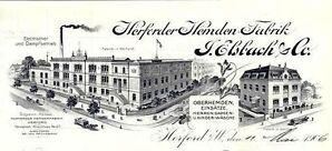 J. Elsbach AG Herford Textil Aktie 1933 Herforder Wäschefabriken Löhne Bielefeld