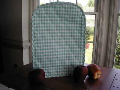 Spring Mint Green Gingham 6 Qt Crockpot Appliance Cover Round LAST ONES