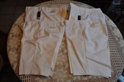 NEW LIZ CLAIBORNE COLLECTION WOMEN/'S WHITE EMMA BERMUDA SHORTS Multiple Sizes$38