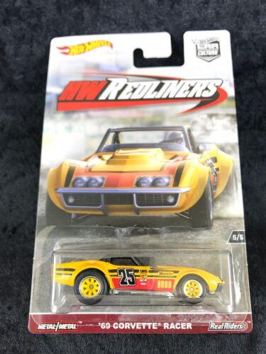 Hot Wheels 2017 HW Redliners Yellow 1969 C3 Corvette Racer