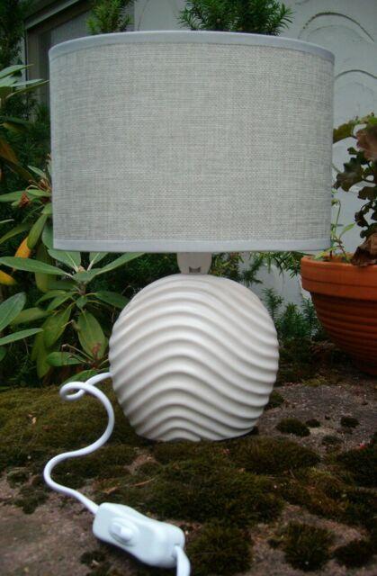 Tischlampe, Stehlampe, Tischleuchte, Nachttischlampe, Keramik 28 cm inkl Versand
