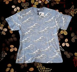 Blue Fuji X 3xl Xxl Ukiyoe Camiseta Uniqlo 4xl para Hokusai Graphic hombre Waves wd4qYdIF
