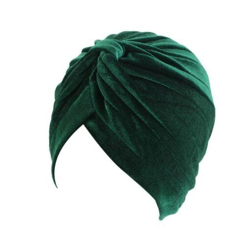 Winter Velvet Turban Women Warm India Cap Chemo Beanie Muslim Hijab Headwear Hat