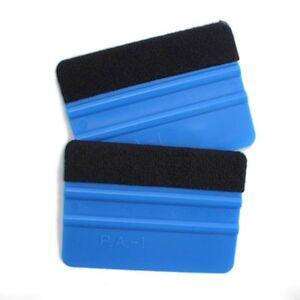Blue-Plastic-Wrapping-Squeegee-Tool-Felt-Edge-Car-Window-Wrap-Scraper-Decal-New