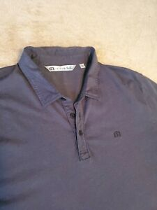 Travis-Mathew-Mens-Polo-Golf-Shirt-size-XXL-Gray-pima-cotton-blend-2xl