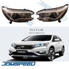 For Honda CR-V 2012-2014 Headlights with Angel Eye and LED Light Bar DRL Lamp